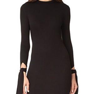 The Hours black long tie sleeve dress